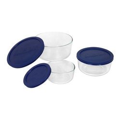 Ekco - Ekco Storage Plus 6-Piece Round Set (3 Pack) (6010170) - Ekco 6010170 Storage Plus 6-pc Round Set