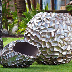 ARTEXTURAL - Outdoor Home objets d'art - Extra Large Crazy Cut Vase