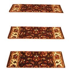 """Natural Area Rugs - """"Summit"""" Carpet Stair Treads, 9"""" x 29"""" (Set of 13) w/ 29"""" x 40"""" Landing Mat - Crafted from durable and soft Polypropylene. Helps reduce slips on your hardwood stairs. Stain & soil resistant for easy cleaning. Reduces noise and wear and tear on your hardwood stairs. Adds subtle sophistication to any decor. Serged border egdes are finished with matching colored yarn. 29"""" x 40"""" Landing Mat Sold Separately. For installation, use """"intertape"""" double-sided heavy duty carpet tape or use carpet nails/tacks.  Each set contains 13 pieces."""