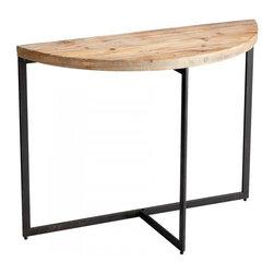 Joshua Marshal - Raw Iron and Natural Wood Taro Console Table - Raw Iron and Natural Wood Taro Console Table