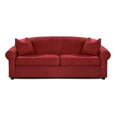 Savvy - Chicago Queen Sleeper Sofa, Fastlane Red, Queen Sleeper, Air Dreamsleeper Mattre - Chicago Queen Sleeper Sofa in Fastlane Red