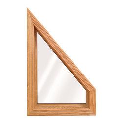 Geometric & Specialty Windows - Interior view of Wellington Trapezoid Window; shown in Lite Oak wood grain.