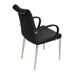 sohoConcept - Tulip Arm Chair - Tulip is an elegant dining chair with a comfortable upholstered seat and backrest on chromed steel tube legs which are plastic tipped.