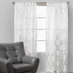 Z Gallerie - Channel Panels - Our Channel Drapery panels are sheer delight. The white-on-white pattern brings a subtle style to classic, semi-sheer panels. Available in three colors - White, Grey, or Gold. Each panel sold separately.