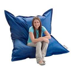 Comfort Research - Big Joe Original Royal Blue Bean Bag - Comfortable and durable,this BeanSack Big Joe rectangle bean bag is filled with long-lasting polystyrene beans. The versatile bean bag can be used for sitting or laying down and is big enough for two persons and ideal for all age groups.