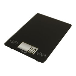 Escali Art Glass Digital Scale - Ink Black - The Escali Arti Scale - the new standard in kitchen scales.  Capable of weighing liquid and dry ingredients up to an astounding 15 lbs with an accuracy of 0.1 Oz.s  or 1 gram. The Arti's list of features is long and loaded with value. Its crisp and clear display  which is 50% larger than commonly found on a kitchen scale  sits between the user friendly touch sensitive controls and results in a single smooth glass surface that is not only beautiful but incredibly functional.            Product Features                    Measures up to 15 lbs (7 kg) in 0.1 Oz. (1 gram) increments          Single  smooth glass surface makes clean-up fast and easy          Measures both liquid (fl oz  ml) and dry ingredients (g  oz  lb + oz)          Display Hold feature:  weight holds on screen when weighing large items          Tare feature:  subtracts a container��s weight to obtain the weight of its contents          Automatic Shut-off feature ensures long battery life (2եlithuim batteries included)          Capacity:  15 lb / 7 kg          Increments:  0.1 oz   1 gram          Auto Shut-off time:  5 minutes          Warranty:  Lifetime Limited Warranty