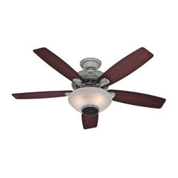 Hunter - Hunter Concert Breeze Ceiling Fan in Brushed Nickel - Hunter Concert Breeze Model 21629 in Brushed Nickel with Reversible Maple/Cherry Finished Blades.