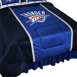 Store51 LLC - NBA Oklahoma City Thunder Bed Comforter Basketball Bedding, King - Features: