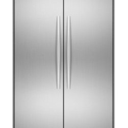 """KitchenAid - Architect Series II KSSC48FTS 48"""" 29.8 cu. ft. Capacity Side by Side Refrigerato - This built-in side-by-side refrigerator features impressive performance options that will change the way you look at food preservation And with custom panels and handles this model will disappear into your cabinets for a truly integrated look"""