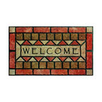 BuyMATS Inc. - Welcome Stones Entry MAT - •Exciting full color design Indoor/Oudoor Entry MAT with built in channels provide high fashion appeal.