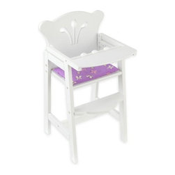 KidKraft - Lil Doll High Chair - Espresso by Kidkraft - Our Lil' Doll High Chair in espresso finish is a great gift for young girls who love 'playing mommy' with their favorite dolls. Whether the dolls are being served a delicious breakfast, lunch or dinner, this high-quality high chair is a perfect place for them to bed fed by imaginative children.