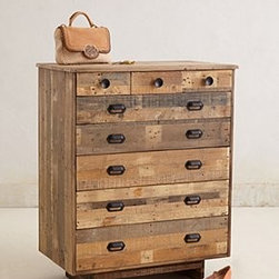 "Anthropologie - Handcrafted Marpole Dresser - Five wide drawers, three narrow drawers Reclaimed pine48""H, 38""W, 22""DImported"
