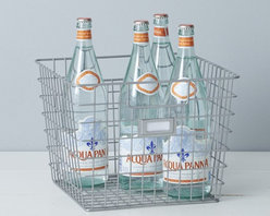 Gray Wire Bin - Organize items in your pantry, garage or closet with these sturdy wire bins.