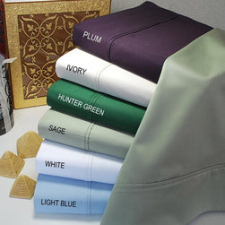 Egyptian Cotton 400 Thread Count Solid 3-piece Duvet Set -