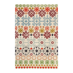 Safavieh - Contemporary Wyndham Square 7' Square Ivory-Multi Area Rug - The Wyndham area rug Collection offers an affordable assortment of Contemporary stylings. Wyndham features a blend of natural Ivory-Multi color. Hand Tufted of Wool the Wyndham Collection is an intriguing compliment to any decor.