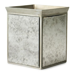 Home Decorators Collection - Palazzo Waste Bin - The Palazzo Waste Bin offers a current look for your bathroom decor due to the antiqued mirror finish that will reflect the light. Add an elegant feel to any of your home's bathrooms with a Palazzo Waste Bin. Order yours now. Resin construction. Vintage mirror.