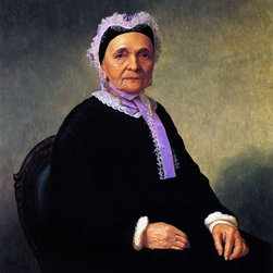 """Henry Mosler Portrait of a Rabbi's Wife (Ktherine Schiff Illowy)  Print - 16"""" x 20"""" Henry Mosler Portrait of a Rabbi's Wife (Ktherine Schiff Illowy) premium archival print reproduced to meet museum quality standards. Our museum quality archival prints are produced using high-precision print technology for a more accurate reproduction printed on high quality, heavyweight matte presentation paper with fade-resistant, archival inks. Our progressive business model allows us to offer works of art to you at the best wholesale pricing, significantly less than art gallery prices, affordable to all. This line of artwork is produced with extra white border space (if you choose to have it framed, for your framer to work with to frame properly or utilize a larger mat and/or frame).  We present a comprehensive collection of exceptional art reproductions byHenry Mosler."""