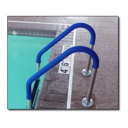 """Blue Wave - Blue Wave Rail Grip-Blue - 4 ft - Rail grips prevent slips and burns handrails can get slippery from oils on the water and hot from the harsh sunlight. These soft neoprene hand rail covers provide a secure grip for entering and exiting the pool. They stay much cooler than bare rails to prevent hands from burning from the intense sun on metal. Royal blue will enhance the look or your pool. For use in residential and commercial pools. Covers come in four sizes to fit a variety of rails. 4 ft. Grip fits 1. 625; diameter rails (Can be stretched to fit up to 1. 9"""" diameter - getting the rail grip wet will aid in stretching it to fit the larger diameter rail); 6 ft., 8 ft., 10 ft. grips fit 1. 9; diameter (Standard) rails."""