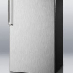 "Summit - FF43ESSSTB 19"" 3.6 cu.ft. Capacity Compact Refrigerator-Freezer  Automatic Defro - SUMMIT39s FF43ESSSTB brings an ENERGY STAR qualified performance to a perfectly sized compact refrigerator-freezer"