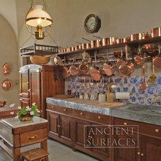 Mediterranean Kitchen Countertops by Ancient Surfaces
