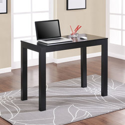 None - Altra Parsons Black Writing Desk - Work from home in comfort with this space-saving black writing desk from Altra Parsons. This desk has a compact design,features a pull-out drawer for stashing your writing accessories,and has plenty of space to lay out papers or use your laptop.