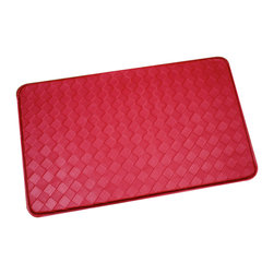 None - Red Memory Foam Anti-fatigue Kitchen Floor Mat - Withstand long preparations in the kitchen in effortless ease with this plush chef design floor mat. This extra strength memory foam kitchen mat is made with Bounce comfort technology for long lasting luxury and anti-fatigue for standing comfort.
