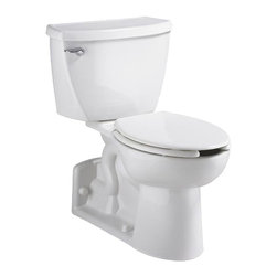 "American Standard - American Standard 2878.100.020 Yorkville Right Height FloWise, White - American Standard 2878.100.020 Yorkville Right Height (1.1 gpf/4.2 Lpf) FloWise,  White. This pressure-assisted elongated toilet features a floor-mounted bowl/seat combination, an EverClean system that inhibits the growth of bacteria, mold, and mildew, an elongated 16-1/8"" high bowl, a fully-glazed 2-1/8"" trapway, a close-coupled flush-o-meter tank, a chrome left-sided metal trip lever, a Speed Connect tank/bowl coupling system for an easy installation,  4 bolt caps, and a sanitary bar on the bowl. It meets EPA WaterSense critera with it's high-efficiency, ultra-low consumption 1.1 GPF."