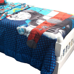 Jay Franco and Sons - Thomas Train Twin-Full Comforter Tank Engine Faster Bedding - FEATURES: