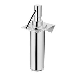 WS Bath Collections - Wall Mount Soap Dispenser - Contemporary design. Premium quality - avant garde. Warranty: One year. Made from solid brass. Polished chrome color. Made in Spain. 3.5 in. W x 3.2 in. D x 7.9 in. H (5 lbs.)Kubic Cool from Pom Dor Spain the very well known brand name for premium and highend bathroom furnishings. Unique and fine bath complements, and accessories of various designs, that provide inspirational solutions for every decor.
