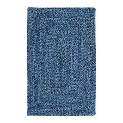 Colonial Mills, Inc. - Indoor/Outdoor Catalina, Blue Wave Rug, Sample Swatch - A beautiful blend of blues gives this braided rug real depth. Durable, stain and fade resistant and made in the USA, it works indoors and out, in any spot that calls for color.