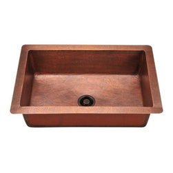 PolarisSinks - Polaris P309 Single Bowl Copper Sink - Our handcrafted copper sinks add warmth and richness to a variety of decors. Our line of copper sinks come in a hammered finished with a beautifully aged patina. The Hammered finish will help hide small scratches that may occur over the lifetime of the sink. Copper is a naturally antibacterial and will not rust or stain, making it low maintenance. Each sink is fully insulated with sound dampening pads. Our copper sinks are covered by a limited lifetime warranty. Each sink comes with a cardboard cutout template and mounting hardware.