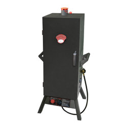 "Landmann - 36"" Gas One Door Vertical Smoker - -Heavy duty steel construction"
