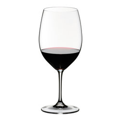 Riedel - Riedel Vinum Cabernet Sauvignon/Bordeaux Pay 6, get 8 - Treat yourself to the luxury of lead crystal. This simply elegant stemware, perfect for Cabernet and Bordeaux, will enhance the look of your table ... and your pleasure in the wine.