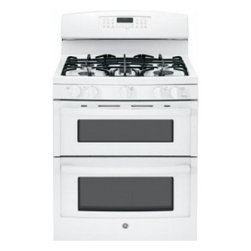 "GE - JGB870DEFWW  30"" Freestanding Gas Double Oven Gas Range with 5 Sealed Burners  4 - A new gas range or electric range should meet all your cooking needs for years to come from warming a simple pan of soup for one person to handling a large dinner party or holiday meal for the whole family Plus your stove should look great in your ki..."