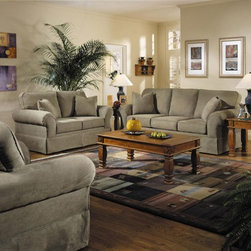 Klaussner Furniture - Woodwin 4 Piece Living Room Set - BO48930-SLSCO - Set includes Sofa, Loveseat, Chair and Ottoman