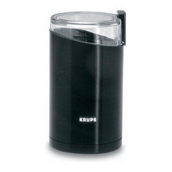 1.0 - Krups 203-42 Fast Touch Electric Coffee and Spice Grinder, Black - -Powerful motor grinds beans from coarse to fine in seconds