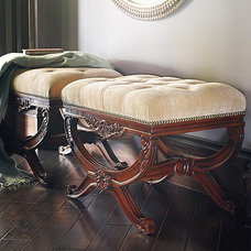 Traditional Upholstered Benches by FRONTGATE