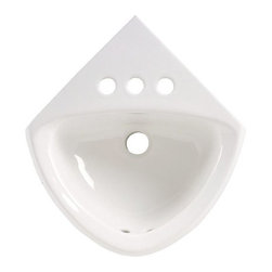 """American Standard - American Standard 0451.001.020 White Corner Minette Corner Mounted - Corner Mounted Wall Mounted Bathroom Sink with Single Faucet Hole, 11"""" Length and OverflowAmerican Standard sinks are the perfect complement to any room. These beautiful sinks are built withstand the everyday use and come in a variety of installation types and finishes to match your needs.American Standard 0451.001 Features:Wall Mount InstallationEngineered to be both beautiful and durableAmerican Standard 0451.001 Specifications:Constructed from Vitreous ChinaBasin Dimensions (Center): 5-1/4"""" (D) x 12-1/4"""" (E) x 8-5/8"""" (H)Nominal Dimensions: 11"""" (L) x 16-3/4"""" (W) x 7"""" (H)American Standard truly is an American Brand to the core. Originally founded in 1872, American Standard began under the name Standard Manufacturing Company, and has played a role in some of our Countries biggest achievements over the years. They have continually manufactured and designed products such as toilets, faucets, sinks that are not only high quality and durable, but are functional, and range from the most classic, traditional designs all the way to the most modern styles you can imagine. When you choose American Standard you are supporting a great American Company and choosing products that are made right, at reasonable prices."""