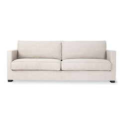 Gus Modern - Richmond Sofa, Varsity Charcoal - Richmond Sofa by Gus Modern. The Richmond Sofa has the same clean contemporary lines Gus Modern is known for but with a cushion seat and cushion back. This 2 over 2 full size modern sofa is tailored and comfy-cozy - slightly more relaxed looking in style than their other sofas.