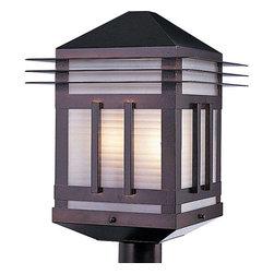 Maxim Lighting - Maxim Lighting 8725PRBU Gatsby Modern Outdoor Post Light in Burnished - Maxim Lighting 8725PRBU Gatsby Modern Outdoor Post Light In Burnished