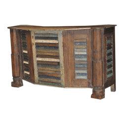 ARTeFAC - Antique Vintage Bar Counter in Reclaimed Wood - Antique Vintage Bar Counter in Reclaimed Wood