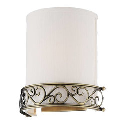 """Elk Lighting - Elk Lighting 11237/1 Abington Traditional Wall Sconce in Antique Brass - Elk Lighting 11237/1 Abington Traditional Wall Sconce in Antique Brass. The """"pendelier"""" combines the attributes of a drum pendant and a chandelier. Abington was designed with classic details integrated into a transitional drum form, making it suitable for either decor."""
