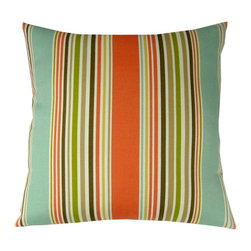 Lava - Sea Stripe 18 x 18 Pillow - Zippered cover with polyester fill. Spot clean only. Made in USA