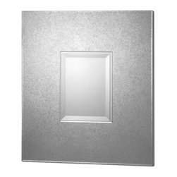 Uttermost - Andover Modern Mirror - Antiqued mirror with layered center beveled mirrors. Matching cabinet is item #24183. May be hung either horizontal or vertical.