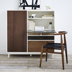 Patchwork Secretary - This side unit is a great investment piece for smaller spaces because it doubles as a desk and a storage piece.