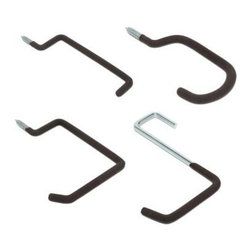 Heavy-Duty Garage Screw Hooks Value Pack, Set of 8 - Add wall-mounted hooks to hang beach bags, chairs and more in the garage.
