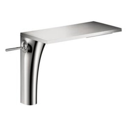 Axor - Hansgrohe - Axor Massaud Lavatory Mixer Tall  - Chrome - 18020001 - Water is the source of all life. Jean-Marie Massaud has developed a bathroom concept that is at one with nature. The faucet becomes a waterfall. The towel rack, a branching tree. The bathtub, a lake.