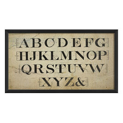 The Artwork Factory - 'Typography III' Print - Fancy yourself an eye doctor? Or, maybe hang in a preschooler's bedroom to practice the alphabet. This ready-to-hang, American made framed print is typographically antique and great addition to any letter lovers' wall.