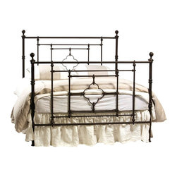Dovetail - Dovetail Stanley Iron Bed - Classic belgian design iron bed Hand applied authentic, aged finish. Available in 3 sizes.