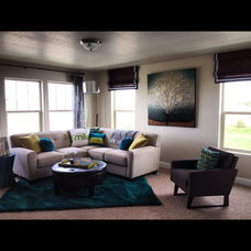 Modern Family Room by Allure Interiors Inc.....Crystal Ann Norris